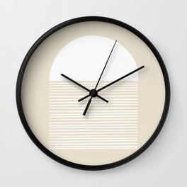Linen Inverted White Scale Shutter Wall Clock