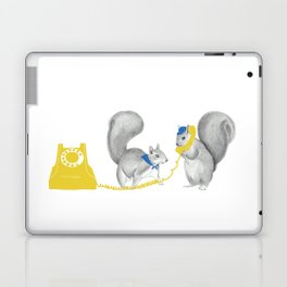 Squirrels on the phone Laptop & iPad Skin