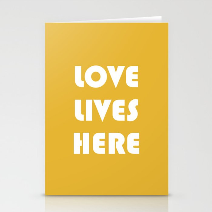 Love Lives Here Stationery Cards
