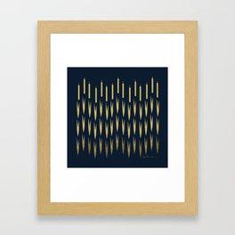 Navy Cattail Framed Art Print