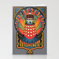 dalek Stationery Cards featuring Dalek Nouveau by Mareve Design