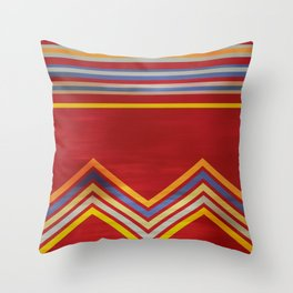 Stripes and Chevrons Ethic Pattern Throw Pillow