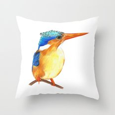 Kingfisher I Throw Pillow