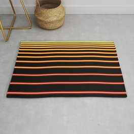 Red to Yellow Neon Rug