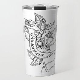 Deadly Nightshade Botanical Illustration Travel Mug