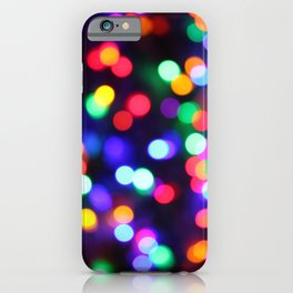 Bright Colored Christmas Bokeh iPhone Case