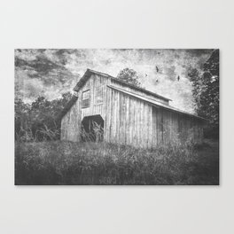 Country Barn B&W Canvas Print