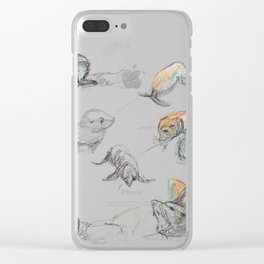 sketch of New zealand seals Clear iPhone Case