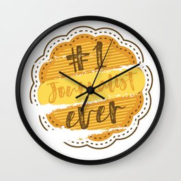 Journalist Number One Wall Clock