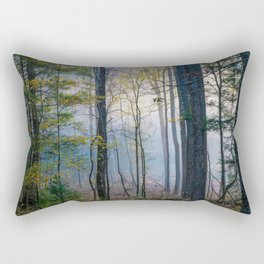 Mystic Forest - Early Morning Glow in Smoky Mountains Rectangular Pillow