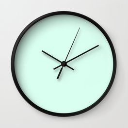 Crystall Blue Mint Wall Clock