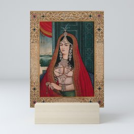 Mohammad Shah Bahadur's begum. Gouache painting by an Indian painter. Mini Art Print