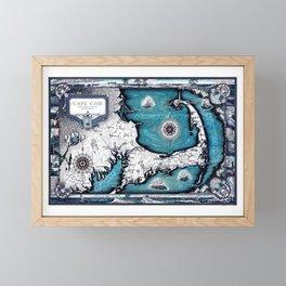 Cape Cod Map, Cape Cod, Barnstable County, Vintage 1931 Massachusetts by Ashburton Tripp Framed Mini Art Print