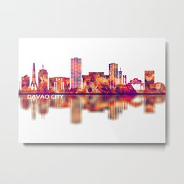 Davao City Philippines Skyline Metal Print