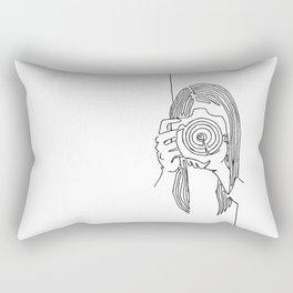 Camera woman Rectangular Pillow