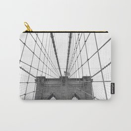 Brooklyn Bridge Black and White Carry-All Pouch