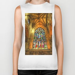 Cathedral Stained Glass Window Biker Tank
