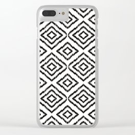 Sumatra in Black and White Clear iPhone Case