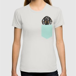 Doxie Dachshund merle dapple dog cute must have dog accessories dog gifts cute doxies dachshunds des T-shirt