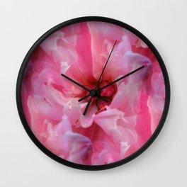Blush - Pink Peony Wall Clock