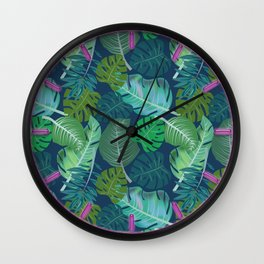 Tropical Leaves (Lets Go Tropical) Wall Clock