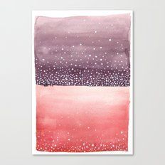 Red and Purple Abstract Canvas Print