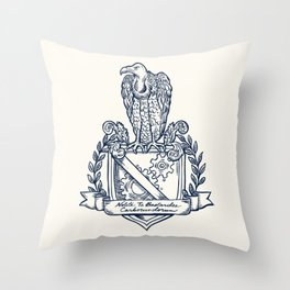Nolite Te Bastardes Carborundorum_Crest Throw Pillow