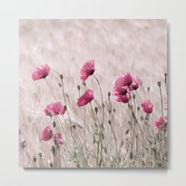 #Poppy #Pastell in #Pink #Beautiful #nature #Pattern from the #world Metal Print