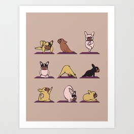 French Bulldog Yoga Art Print