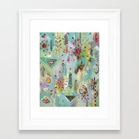 "flora bowley Framed Art Prints featuring ""Liminal Rights"" Original Painting by Flora Bowley by Flora Bowley"