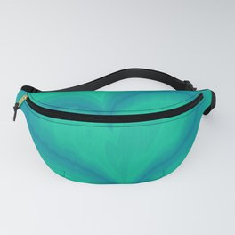 Abstract Blue Green Heart Wave Pattern | Valentine's Day Fanny Pack
