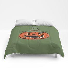 Vintage Jack O Lantern Pumpkin Comforters