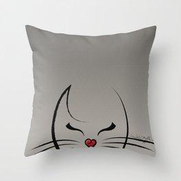 Peek-a-Boo Kitty Throw Pillow