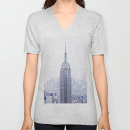 New York City - Manhattan Cityscape - Empire State Building Photograph Unisex V-Neck