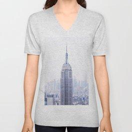 New York City - Manhattan Cityscape - Empire State Building Photograph Unisex V-Neck