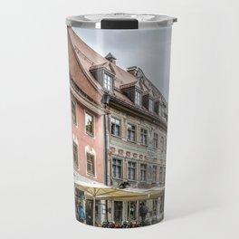 Fussen. Alpine town street view Travel Mug