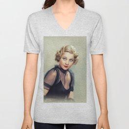 Eve Farrell, Vintage Actress Unisex V-Neck