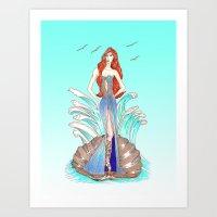Venus Dress Art Print