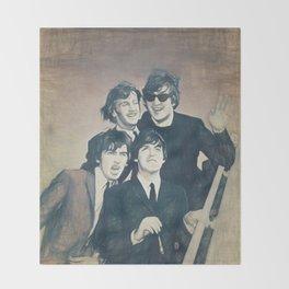 Beatle - John, Paul, George, and Ringo Throw Blanket