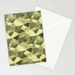 Abstract Geometrical Triangle Patterns 4 VA Lime Green - Lime Mousse - Bright Cactus Green - Celery Stationery Cards