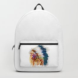 Native American Chief Backpack