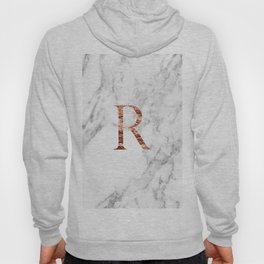 Monogram rose gold marble R Hoody