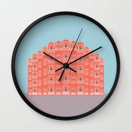 Hawa Mahal, Pink Wind Palace, Jaipur, India Wall Clock