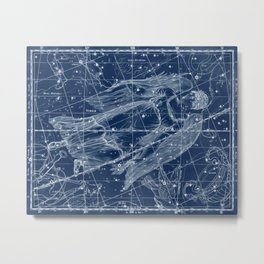 Virgo sky star map Metal Print