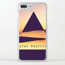 stay positive new art triangle 2018 view sea cover case sticker stickers Clear iPhone Case