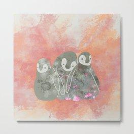Layla Penguins Metal Print