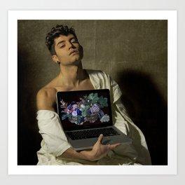 Caravaggio - Fanciullo con canestro di frutta Art Print