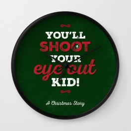 You'll Shoot Your Eye Out! Wall Clock