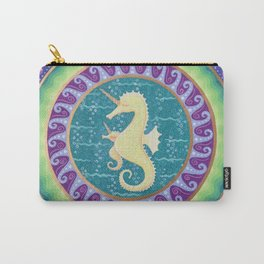 Magical Unicorn Seahorse Mandala Carry-All Pouch