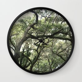 Georgia Live Oaks Wall Clock